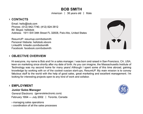 Examples Resumes | Resume Template Examples Resumup Com